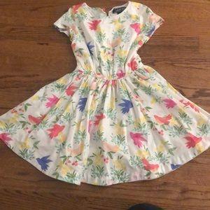 Floral adorable girls twirl dress
